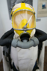 Safety clothing exhibit at Deutsche Arbeitsschutzausstellung DASA or German Museum of Occupational Health and Safety in Dortmund Germany