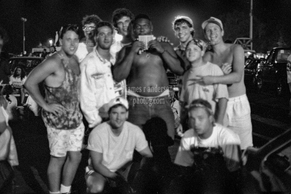 Met these guys once, and here's their closeup. In Shakedown Street after the second show. The Grateful Dead at Pine Knob Music Theatre, Clarkston, MI on 20 June 1991