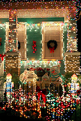 22 December 2011.New Orleans, Louisiana, USA.  <br /> Christmas lights adorn Uptown houses.<br /> Photos; Charlie Varley