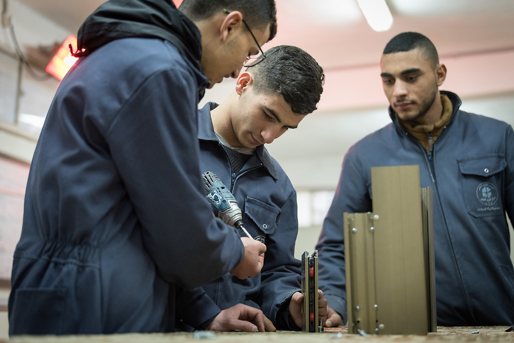 25 February 2020, Jerusalem: The Lutheran World Federation's vocational training centre in Beit Hanina offers vocational training for Palestinian youth across a range of different professions, providing them with the tools needed to improve their chances of finding work.