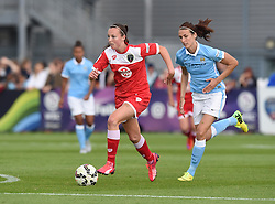 Bristol Academy's Caroline Weir in action during the FA Women's Super League match between Bristol Academy Women and Manchester City Women at Stoke Gifford Stadium on 18 July 2015 in Bristol, England - Photo mandatory by-line: Paul Knight/JMP - Mobile: 07966 386802 - 18/07/2015 - SPORT - Football - Bristol - Stoke Gifford Stadium - Bristol Academy Women v Manchester City Women - FA Women's Super League