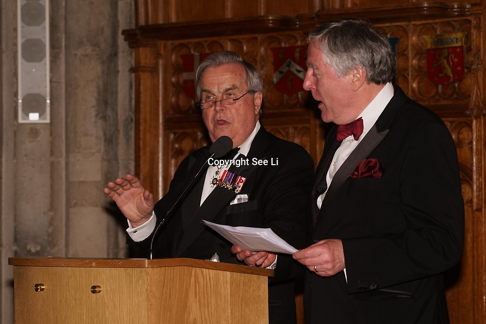 London,England,UK. 31th March 2017: Lord David Brewer,Lord Clement-Jones CBE presents at the Athene Festival 2017 at Guildhall,London,UK. by See Li