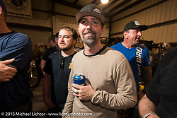 Ben Jordan at Bill Dodge's Bling's Cycle party during Daytona Beach Bike Week 2015. FL, USA. Wednesday, March 11, 2015.  Photography ©2015 Michael Lichter.