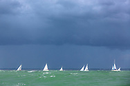 Yachts during the Round the Island Race. Isle of Wight.<br /> Picture date: Saturday July 2, 2016.<br /> Photograph by Christopher Ison ©<br /> 07544044177<br /> chris@christopherison.com<br /> www.christopherison.com