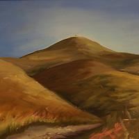 Road to Atascadero. Plein air oil sketch, 9 x 12.