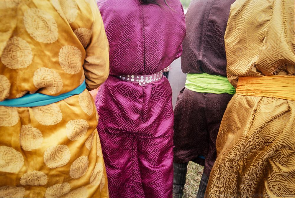 Detail of Mongolian dresses.