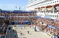 Volleyball, Beachvolleyball, Sandvolleyball, World Tour Stavanger, 05/07-03,<br />Main court, Hovedtribune,  <br />Foto: Sigbjørn Andreas Hofsmo, Digitalsport