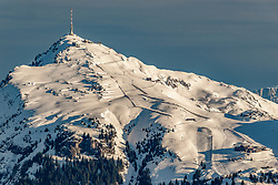 THEMENBILD - Das Kitzbueheler Horn, aufgenommen am 31. Dezember 2017, Kitzbuehel, Oesterreich // the Kitzbueheler Horn at the Hahnenkamm in Kitzbuehel, Austria on 2017/12/31. EXPA Pictures © 2017, PhotoCredit: EXPA/ Stefan Adelsberger
