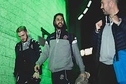 Jordan Nicholls of Bristol Flyers and Chris Taylor of Bristol Flyers arrives at Plymouth Pavilions prior to kick off - Photo mandatory by-line: Ryan Hiscott/JMP - 28/12/2019 - BASKETBALL - Plymouth Pavilions - Plymouth, England - Plymouth Raiders v Bristol Flyers - British Basketball League Championship