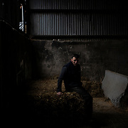 GARVAGH, NORTHERN IRELAND - NOVEMBER 07, 2019: Dairy farmer Mervyn Gordon, poses for a portrait at the family's farm in Garvagh, Northern Ireland. CREDIT: Paulo Nunes dos Santos for The New York Times