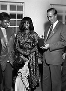 Edward Seaga with Millie Small at Island Records - 1980. Millie cries as Seaga awards a lifetime achievement award.
