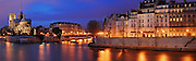 Paris By Night and La Seine panorama, france