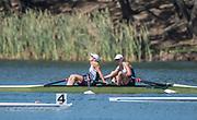 "Rio de Janeiro. BRAZIL.  Silver Medalist GBR W2X. Bow. Vicky THORNLEY and Katherine GRAINGER. 2016 Olympic Rowing Regatta. Lagoa Stadium,<br /> Copacabana,  ""Olympic Summer Games""<br /> Rodrigo de Freitas Lagoon, Lagoa. Local Time 11:15:55  Thursday  11/08/2016 <br /> [Mandatory Credit; Peter SPURRIER/Intersport Images]"