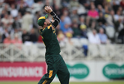 Riki Wessels of Notts Outlaws catches out Travis Head of Yorkshire Vikings (Not Pictured) - Mandatory by-line: Jack Phillips/JMP - 15/07/2016 - CRICKET - Trent Bridge - Nottingham, United Kingdom - Nottingham Outlaws v Yorkshire Vikings - Natwest T20 Blast