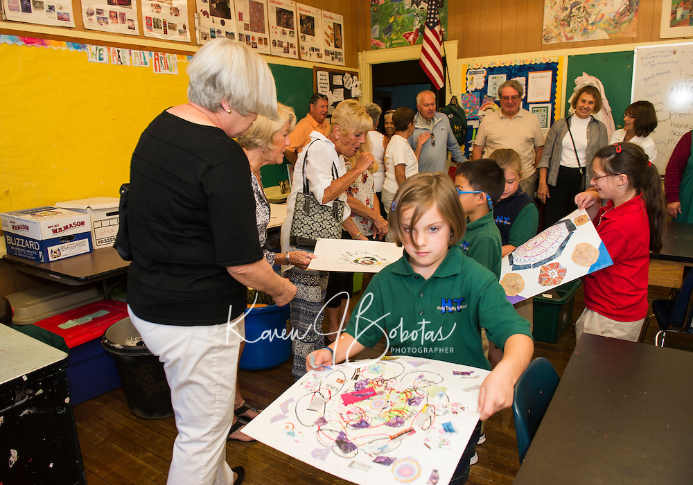 Class of 1962 visits Holy Trinity School in Laconia.  Karen Bobotas for the Laconia Daily Sun