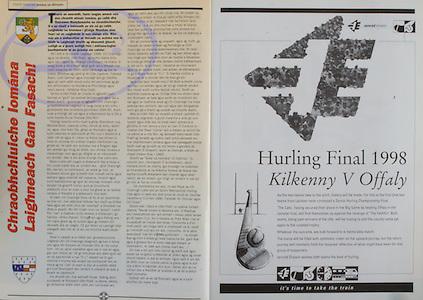 All Ireland Senior Hurling Championship - Final, .13.09.1998, 09.13.1998, 13th September 1998, .13091998AISHCF,.Senior Kilkenny v Offaly, .Minor Kilkenny v Cork,.Offaly 2-16, Kilkenny 1-13,..Iarnrod Eireann,