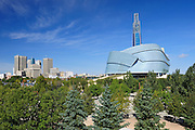 Winnipeg skyline with Canadian Museum for Human Rights <br /> Winnipeg<br /> Manitoba<br /> Canada
