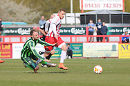Sean Rigg forward for AFC Wimbledon (11) during the Sky Bet League 2 match between Stevenage and AFC Wimbledon at the Lamex Stadium, Stevenage, England on 30 April 2016. Photo by Stuart Butcher.