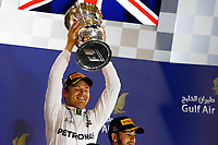 ROSBERG Nico (ger) Mercedes GP MGP W07 ambiance portrait podium ambiance   during 2016 Formula 1 FIA world championship, Bahrain Grand Prix, at Sakhir from April 1 to 3  - Photo Frederic Le Floc'h / DPPI