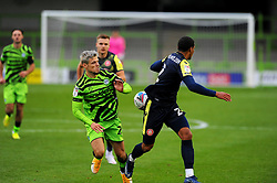 Josh March of Forest Green Rovers tries to get past Luther Wildin of Stevenage- Mandatory by-line: Nizaam Jones/JMP - 17/10/2020 - FOOTBALL - innocent New Lawn Stadium - Nailsworth, England - Forest Green Rovers v Stevenage - Sky Bet League Two