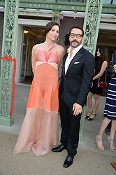 MINNIE DRIVER and JEREMY PIVEN at the Fashion Rules Exhibition Opening at Kensington Palace, London W8 on 4th July 2013.