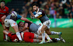 Harlequins' Danny Care during the European Challenge Cup, pool five match at Twickenham Stoop, London.