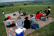 Family and friends at a picnic