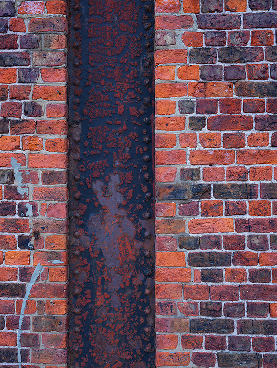 Editions of 8<br /> Brick and steel detail from the dock yards of Liverpool in the UK
