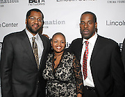 l to r: Malcom Lee, Moikgansti Kgama and Greg Gatesat The ImageNation celebration for the 20th Anniversary of ' Do the Right Thing' held Lincoln Center Walter Reade Theater on February 26, 2009 in New York City. ..Founded in 1997 by Moikgantsi Kgama, who shares executive duties with her husband, Event Producer Gregory Gates, ImageNation distinguishes itself by screening works that highlight and empower people from the African Diaspora.