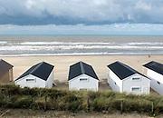 Nederland, Katwijk, 28-10-2014Het strand met nieuwe vakantiehuisjes. Vakantie in eigen land.Foto: Flip Franssen/Hollandse Hoogte