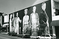 """1987 Mural titled """"The Legends of Hollywood"""" on Hudson Ave, just south of Hollywood Blvd., featuring Marilyn Monroe, Humphrey Bogart, Fred Astaire, Joan Crawford, James Dean, and Clark Gable"""