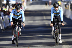 September 16, 2017 - Bergen, Norway - BERGEN, NORWAY - SEPTEMBER 16 : Ilan Van Wilder abd Sebastien Grignard pictured during the reconnaisance of the Team Time Trial 2017 World Road Championship cycling race on September 16, 2017 in Bergen, Norway, 16/09/2017 (Credit Image: © Panoramic via ZUMA Press)