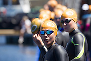 Ai Ueda lof Japan during the Discovery Triathlon World Cup Cape Town 2017. Image by Greg Beadle