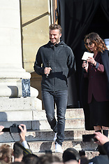 David Beckham is seen at a Addidas store in Paris - 6 March 2018