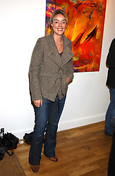 TV director ROSIE SCHELLENBERG at an exhibition of art by Jeffrey Kroll entitled Imirage held at the Arndean Gallery, Cork Street, London on 19th October 2005.<br /><br />NON EXCLUSIVE - WORLD RIGHTS