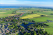 Nederland, Noord-Holland, Gemeente Waterland, 13-06-2017; Broek in Waterland met Sint-Nikolaaskerk en water van het Havenrak. Volgermeerpolder in de achtergrond.<br /> Picturesque village in Waterland, north of Amsterdam.<br /> luchtfoto (toeslag op standard tarieven);<br /> aerial photo (additional fee required);<br /> copyright foto/photo Siebe Swart