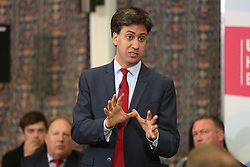 © Licenced to London News Pictures.  06/05/2014.  London UK. Ed Milliband Labour leader visits a New Addington. Croydon to encourage the Labour party in the area about the election in 2015. Q&A followed the speach  Photo Credit: Presspics/LNP