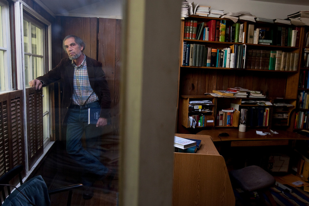 Michael Heim teaches Slavic language and literature at UCLA and translates literature. Photographed in his home study near the university.