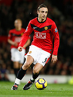 Photo: Steve Bond/Richard Lane Photography. Manchester United v Blackburn Rovers. Barclays Premiership 2009/10. 31/10/2009. Dimitar Berbatov turns with the ball