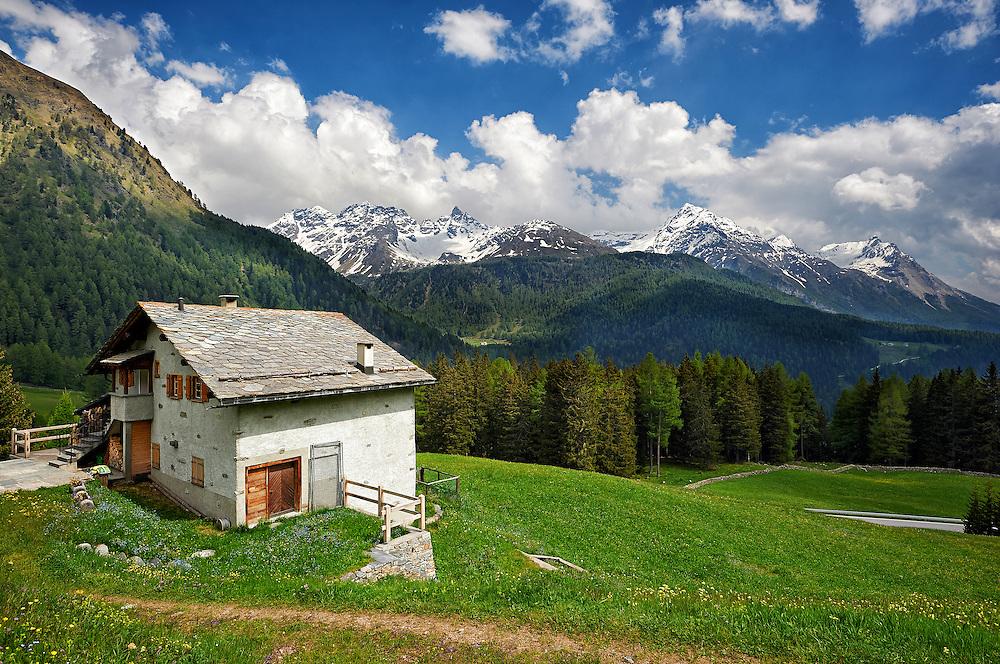 Switzerland - House in Bernina Pass