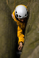 Detail shots such as this one of Sally Dipple placing a cam in a crack on a route at Burbage North help show non-climbers some of the less obvious things involved in the sport. (And shooting from above is the only way to get this shot!)