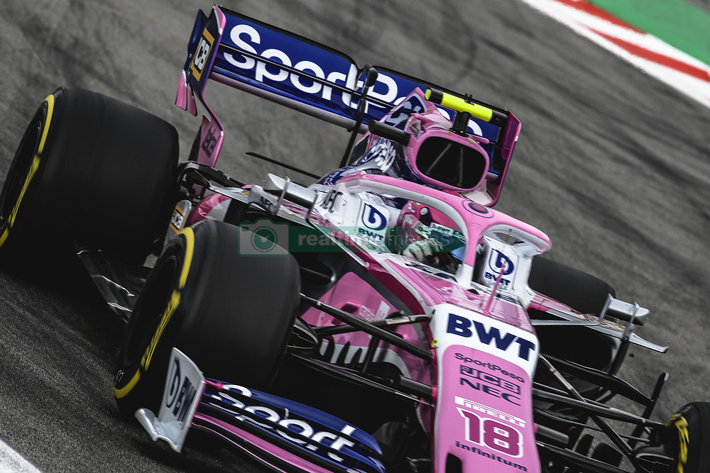 May 11, 2019 - Barcelona, Catalonia, Spain - LANCE STROLL (CAN) from team Racing Point drives in his RP19 during the third practice session of the Spanish GP at Circuit de Catalunya (Credit Image: © Matthias Oesterle/ZUMA Wire)