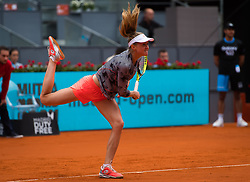 May 8, 2019 - Madrid, MADRID, SPAIN - Aliaksandra Sasnovich of Belarus in action during her third-round match at the 2019 Mutua Madrid Open WTA Premier Mandatory tennis tournament (Credit Image: © AFP7 via ZUMA Wire)