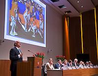 UTRECHT - Johan Wakkie, directeur van de KNHB. Algemene Ledenvergadering  KNHB bij de Rabobank in Utrecht. . COPYRIGHT KOEN SUYK