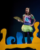 "Gilford Middle School dress rehearsal for their winter musical ""Seussical"".  (Karen Bobotas/for the Laconia Daily Sun)"