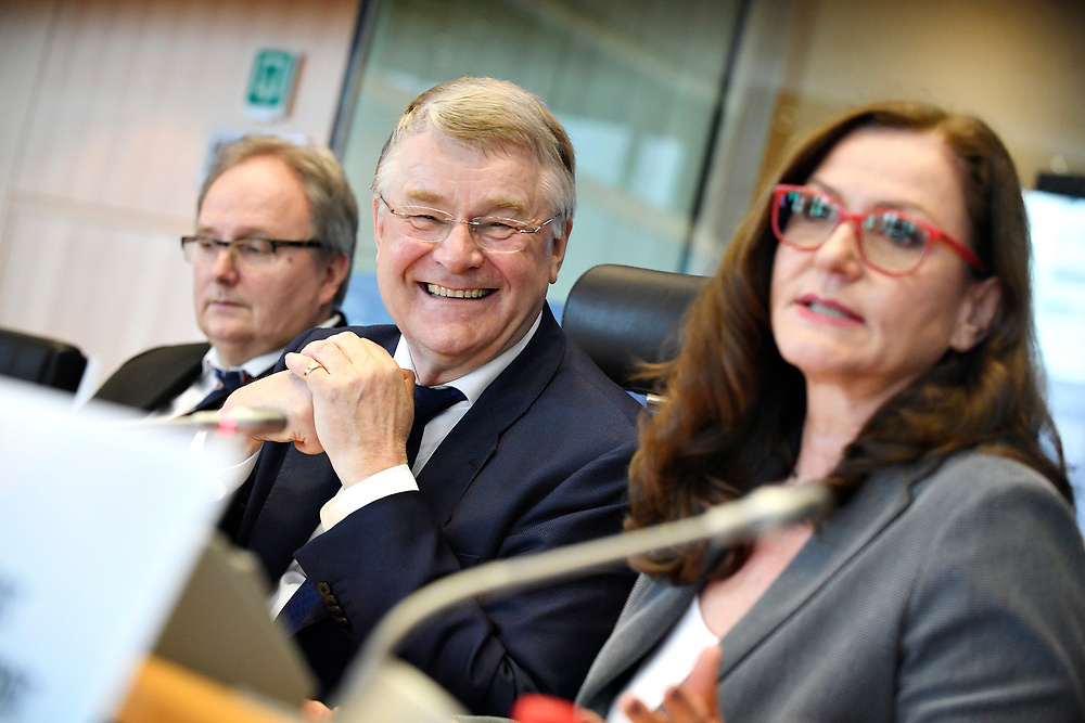 12 May 2017, 123rd Plenary Session of the European Committee of the Regions <br /> Belgium - Brussels - May 2017 <br />  <br /> CoR President Markkula and Gudrun Mosler-Törnström, President of the Congress of the Council of Europe <br /> <br /> © European Union / Fred Guerdin
