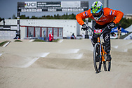 #236 during practice at the 2018 UCI BMX World Championships in Baku, Azerbaijan.