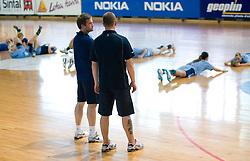 Primoz Pori and Bostjan Brulec at practice of Slovenian Handball Women National Team, on June 3, 2009, in Arena Kodeljevo, Ljubljana, Slovenia. (Photo by Vid Ponikvar / Sportida)