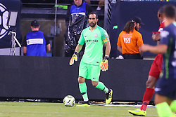 July 25, 2018 - East Rutherford, NJ, U.S. - EAST RUTHERFORD, NJ - JULY 25:  Manchester City goalkeeper Claudio Bravo (1) during the first half of the International Champions Cup Soccer game between Liverpool and Manchester City on July 25, 2018 at Met Life Stadium in East Rutherford, NJ.  (Photo by Rich Graessle/Icon Sportswire) (Credit Image: © Rich Graessle/Icon SMI via ZUMA Press)