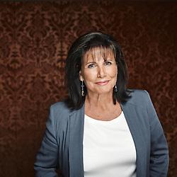 Paris, France. August 19, 2014. Writer and former TV Anchor Anne Sinclair at the Pavillon de La Reine (hotel). Photo: Antoine Doyen